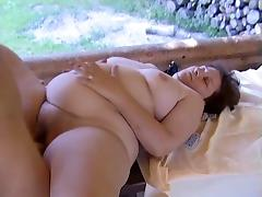 Mature BBW Kim and Monica fucking with guys in a duet