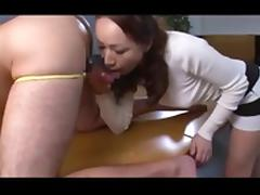 RIMMING&BLOWJOB FROM BEHIND&LICKING CUM FROM TABLE (Zdonk)