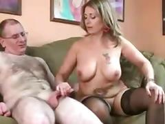 Mature couple make a handjob video.