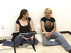 Dynamic cowgirl in jeans masturbating using toy in reality shoot