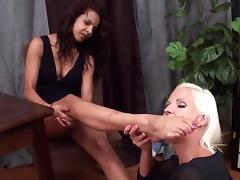 blond lesbian lick latina feet