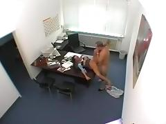 Colleague fucked a hot blondie in the WC in her booty