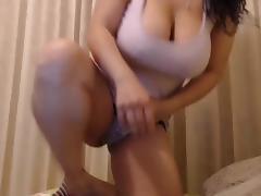 Busty BBW Masturbating