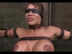 BDSM video of a MILF getting mouth fucked