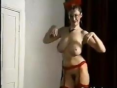 Classic Striptease With A Busty Lady