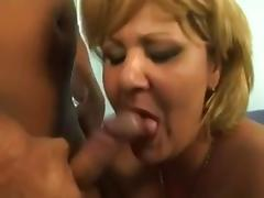 Blonde Grandmother seduced by young Sailor
