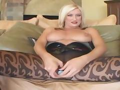 Blue-eyed and busty bitch fucking with black dick