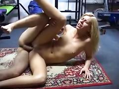 Blonde Cutie Gets Her Ass Drilled After Gym's Session