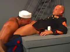Gay hairy soldiers sodomizing asshole