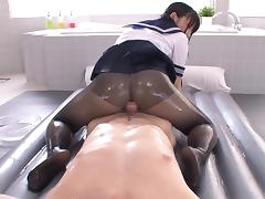 Japanese Teen, Blowjob, Grinding, Pantyhose, Japanese Teen