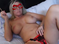 Mask, Babe, Big Tits, Blonde, Blowjob, Couple