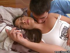 An amateur teen couple starts their morning with some hot, hardcore sex