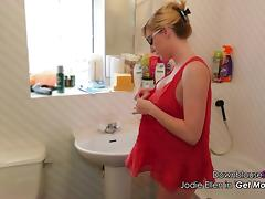 Jodie Ellen Downblouse Sexy Video Lookbook 1 Hot Blonde Babe