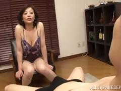 Mom and Boy, Asian, Boobs, Japanese, Mature, Old