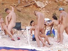 Beach Sex, Beach, Group, Hardcore, Orgy, Outdoor