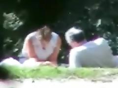 Public park wife sharing