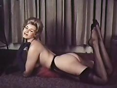 PERHAPS - vintage blonde striptease stockings gloves