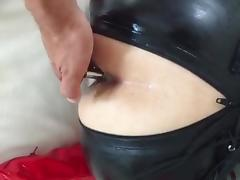 Buttplug, Amateur, Anal, Ass, Catsuit, Latex