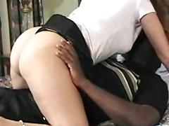 Sexy wife takes BBC creampie