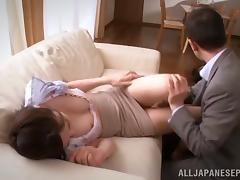 Asian college professor receives a big & creamy facial