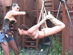 MILF Mistress and Sub - Bondage, Fisting, Toying