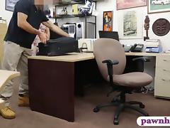 Ex dominatrix nailed by horny pawn man at the pawnshop