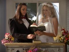 Lesbian bride Prinzzess is fucked by her new wife Renee Perez