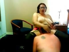 Muff Diving, Amateur, BBW, Lick, Pussy, Stockings