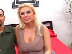 Milf with giant tits Devon Lee gets her shaved pussy pounded