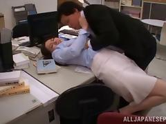 Pretty Asian chick with a hot ass sucking a stranger's cock