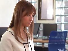 Hot Japanese secretary fingered and fucked by her boss