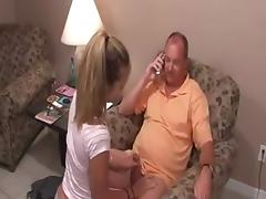 Daughter, Blowjob, Penis, Small Tits, Teen, Old and Young