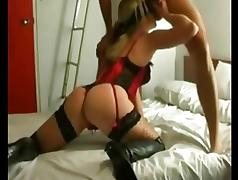 Wife hardcore sex session on homemade