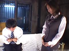 Big boobs Asian moans noisily while getting a thorough missionary thrusting