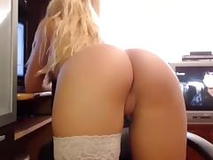 Ass, Ass, Blonde, Solo, Stockings, Webcam