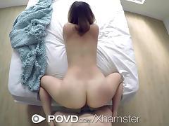 POVD - Big breasted Mia Scarlett pleases her man in POV