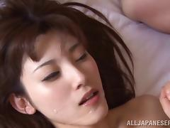 Hot Asian lover always swallows cum after a rough fucking