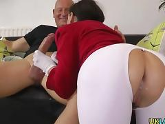 Stocking ho anal creampie