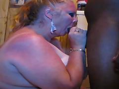 White slutty granny face fucked & eats cum - CassianoBR