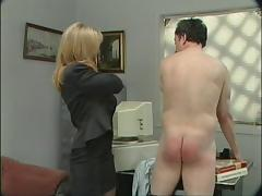 Blond smacking his ass