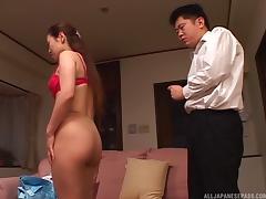 Japanese girl dressed for business gets fucked like a slut