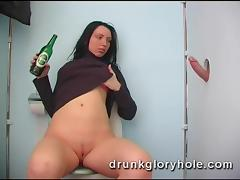 Toilet, Amateur, Blowjob, Drunk, Fucking, Gloryhole