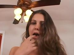 A blowjob and titty fuck ends with her pussy getting slammed