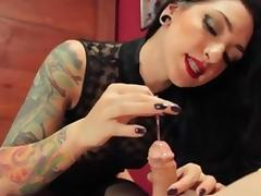 Dom mistress sounding cock