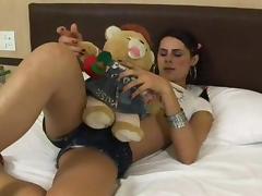 Sexy teen tranny Yasmin Rios in hot action