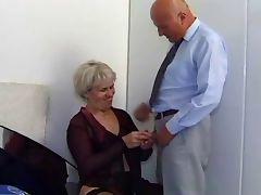 Grannyf uck in stockings