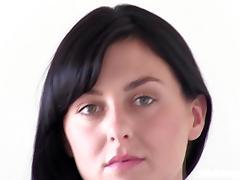 Stunning Brunette is nervous at her Calendar Audition