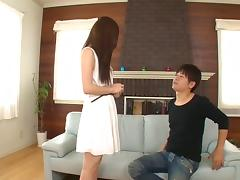 Super cute Japanese girl is eager to make guys cum