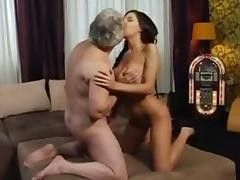 Old Man, Big Tits, Boobs, Brunette, Hardcore, Horny