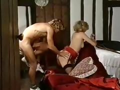 Vintage porn shows a black bloke fucking a busty blonde